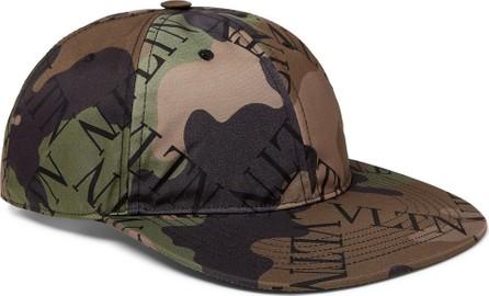 Valentino Valentino Garavani Camouflage Logo-Print Shell Baseball Cap