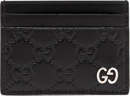 Gucci GG-debossed leather cardholder