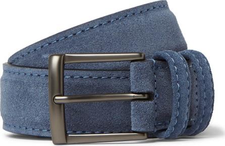 Anderson's 3.5cm Blue Suede Belt