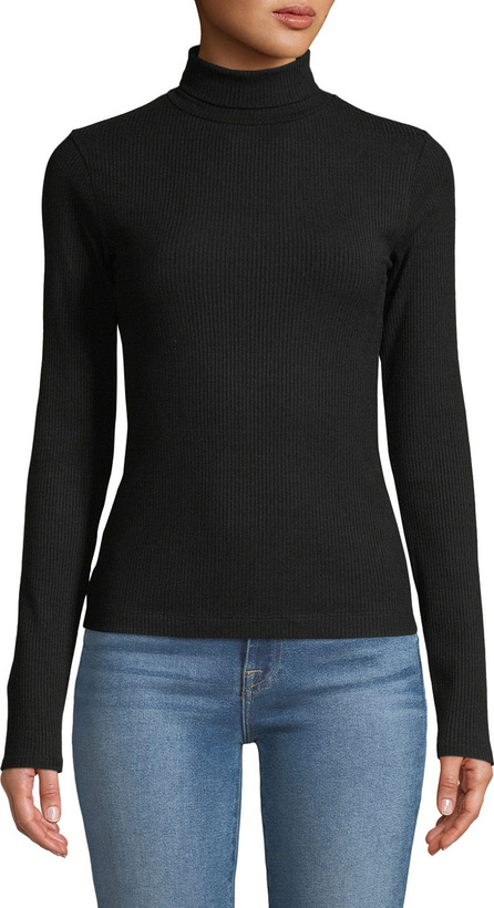7 For All Mankind Turtleneck Long-Sleeve Ribbed Tee