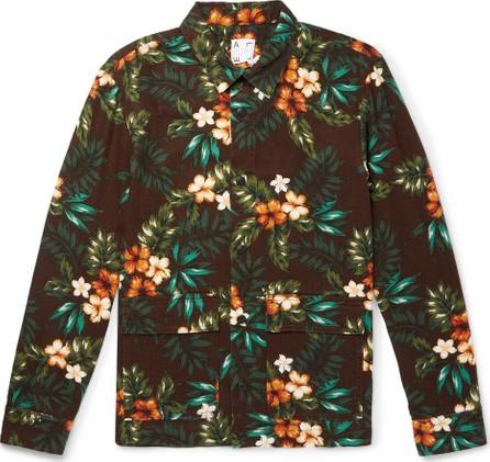 Altea Printed Cotton and Linen-Blend Canvas Blouson Jacket