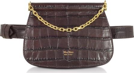 Max Mara Jana Croco Embossed Leather Belt Bag