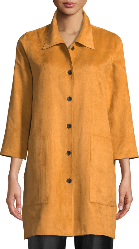Caroline Rose Modern Faux-Suede Shirt