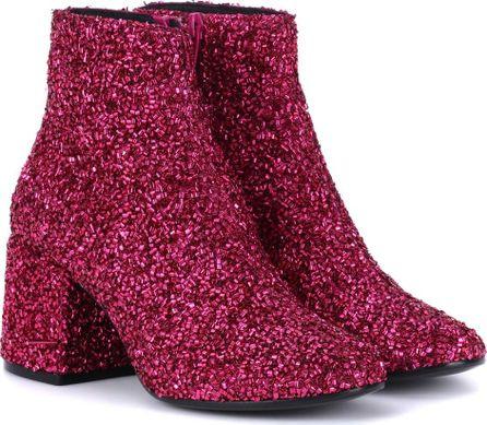 MM6 Maison Margiela Bead-embellished ankle boots