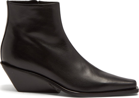 Ann Demeulemeester Square-toe leather ankle boots