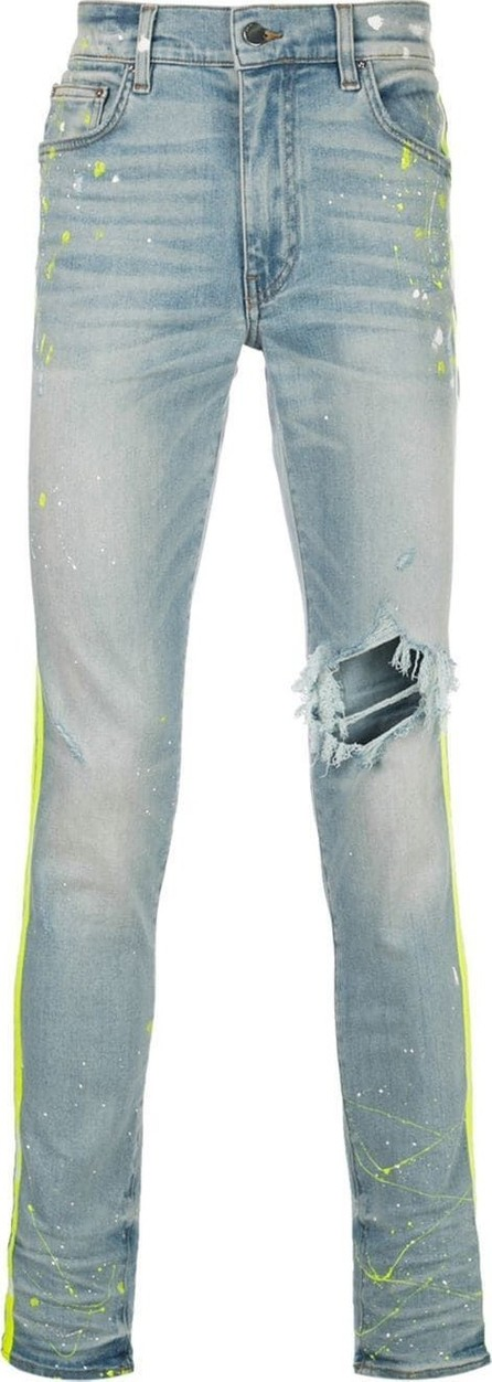 Amiri Neon side stripe jeans
