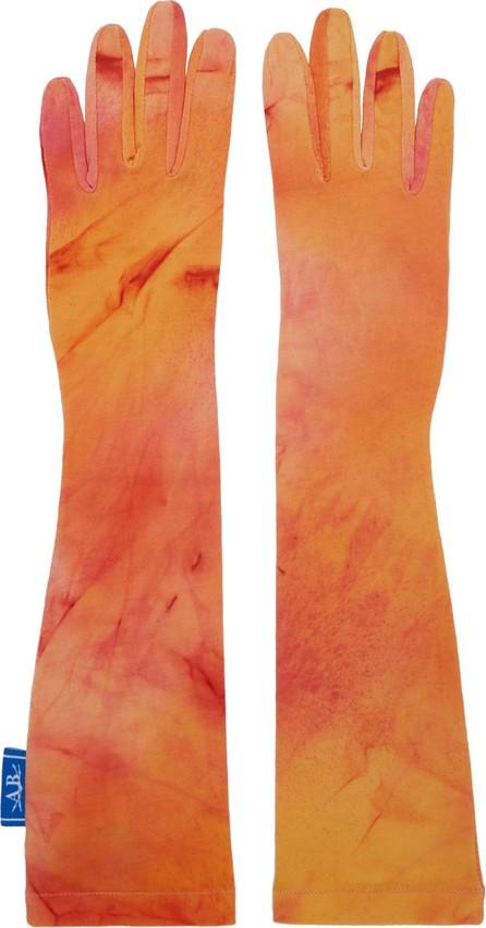 Anton Belinskiy Orange & Yellow Tie-Dye Long Gloves