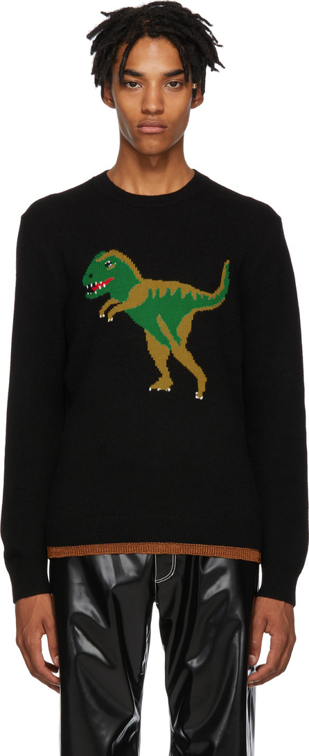 COACH 1941 Black Intarsia Rexy Sweater