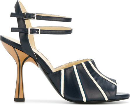 Marni Contrast stripe sandals