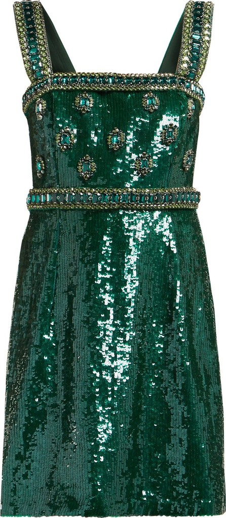 Andrew Gn Sequinned and crystal-embellished mini dress