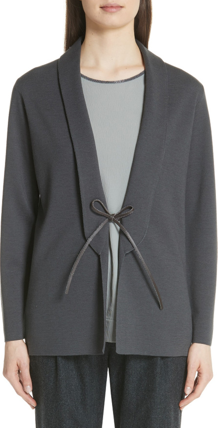 Fabiana Filippi Leather Tie Wool Jacket