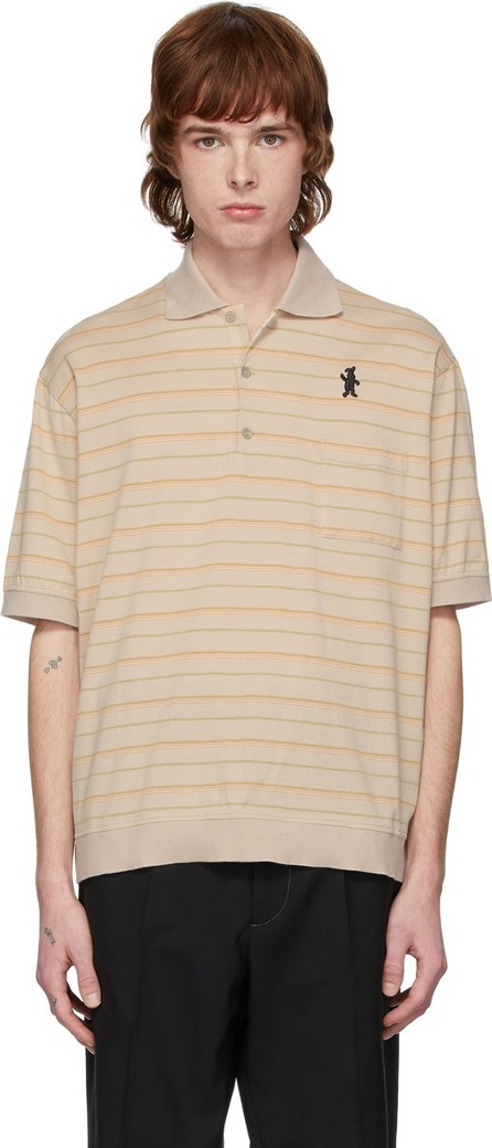 Marni Beige Jersey Striped Polo