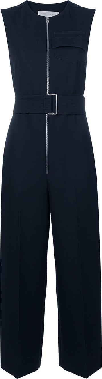 Victoria Beckham Sleeveless belted jumpsuit