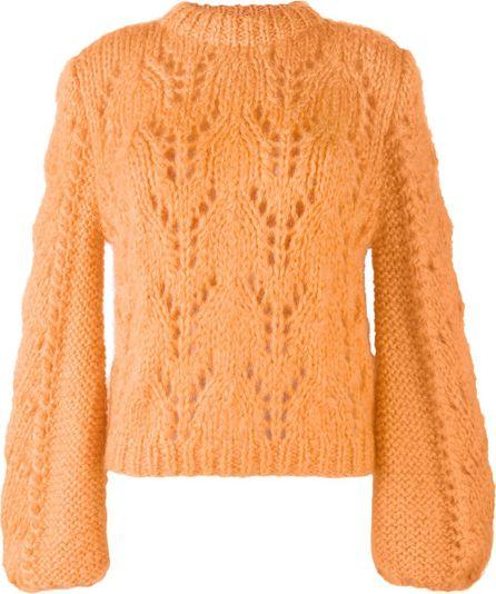 Ganni crochet knitted jumper