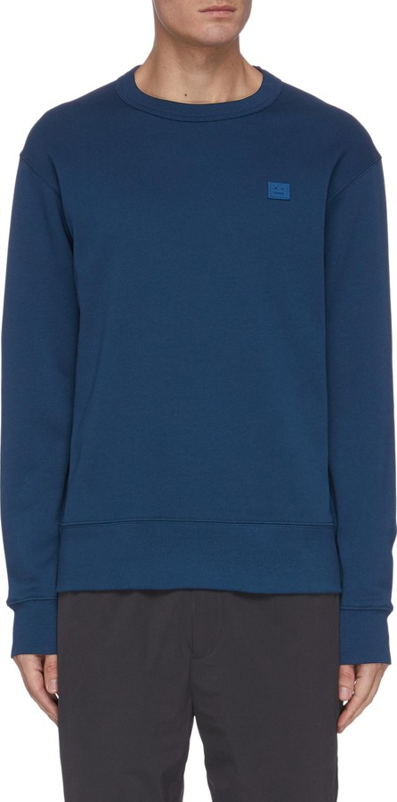Acne Studios Face patch cotton sweatshirt