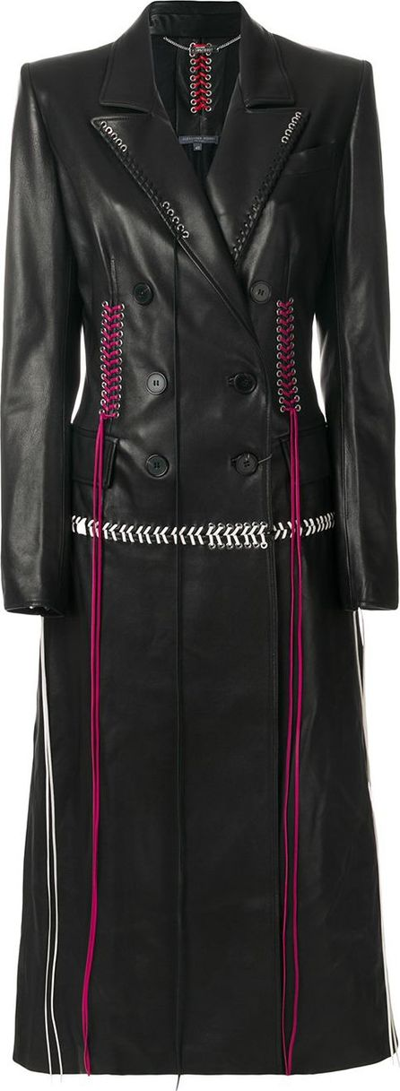 Alexander McQueen lace-up detail double-breasted coat
