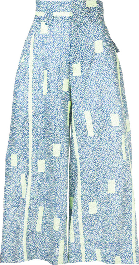 Mikio Sakabe Floral wide leg trousers