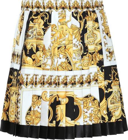 Versace Pleated silk miniskirt