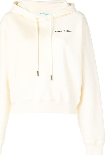 Off White Logo print hoodie