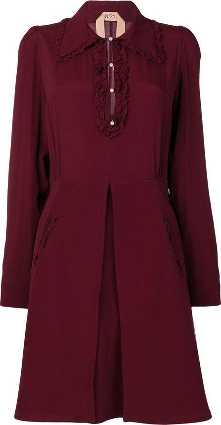 Nº21 Long sleeve flared dress