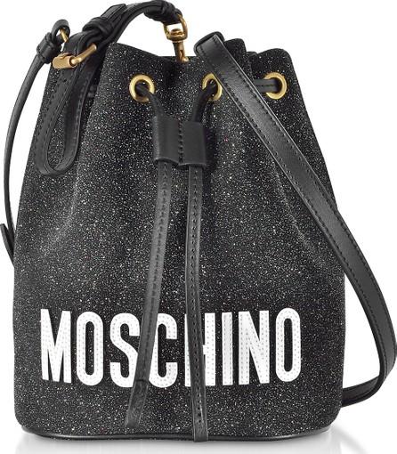 Moschino Black Leather Bucket Bag