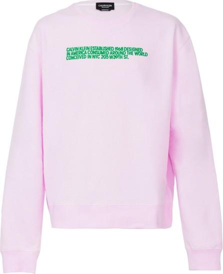 Calvin Klein 205W39NYC unisex pink sweatshirt