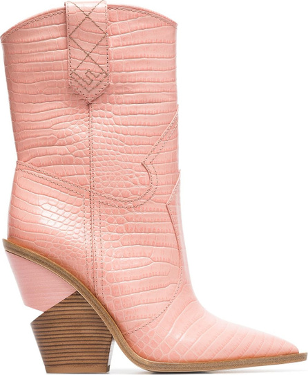 Fendi Cutwalk 100 crocodile-embossed ankle boots