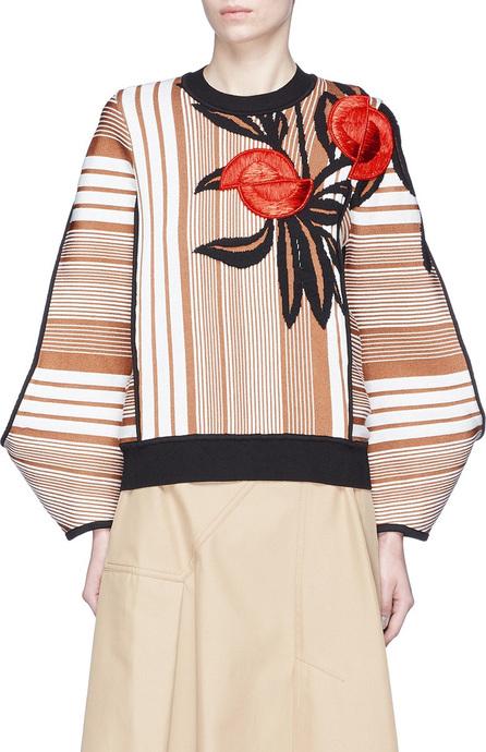 Roksanda 'Nikko' cocoon sleeve floral jacquard sweater