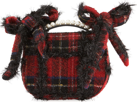Simone Rocha Embellished Tartan Pearly Crossbody Bag