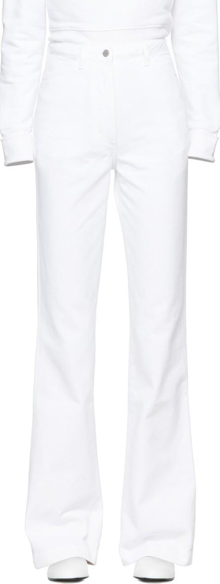 A_Plan_Application White High-Waist Bootcut Jeans