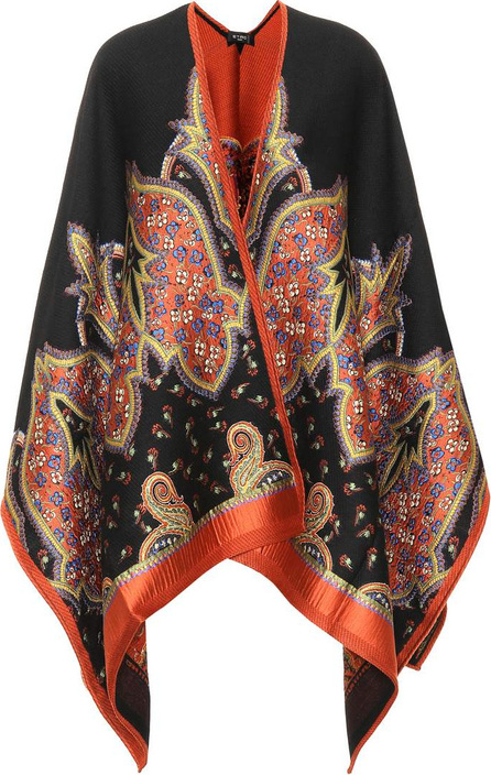 Etro Paisley wool-blend poncho