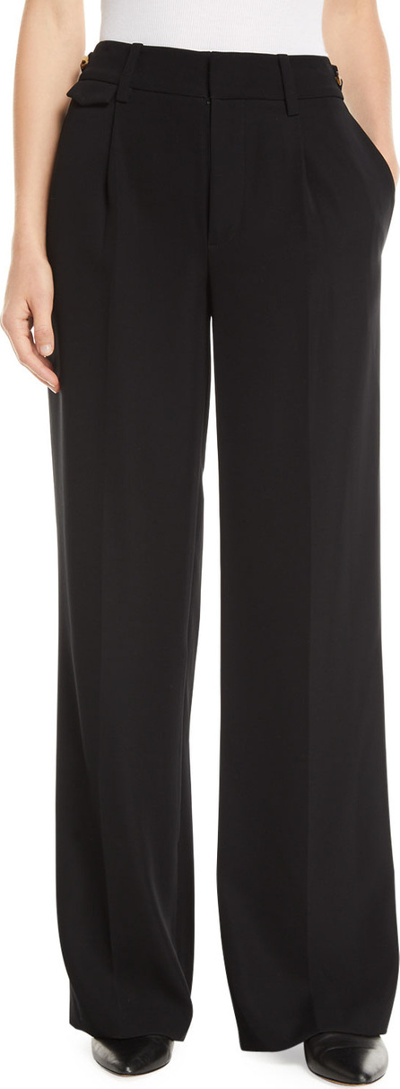 Vince Relaxed High-Waist Wide-Leg Trousers
