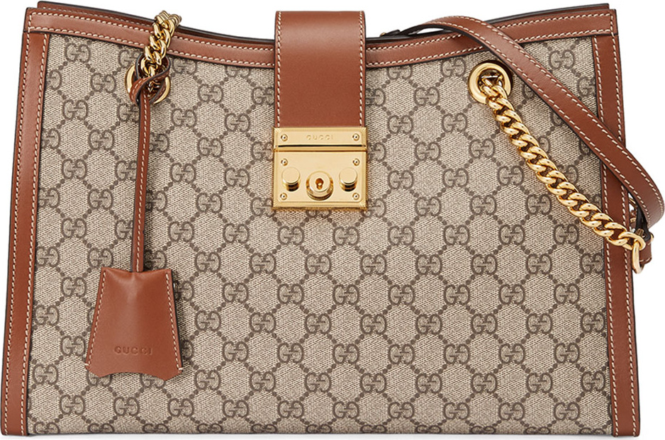 Gucci - Padlock GG Supreme Canvas Medium Shoulder Bag