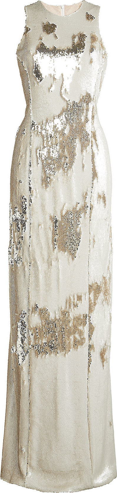 Galvan Salar Column Sequin Dress