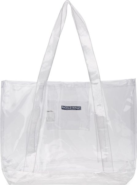 A-Cold-Wall* Transparent Plastic Tote