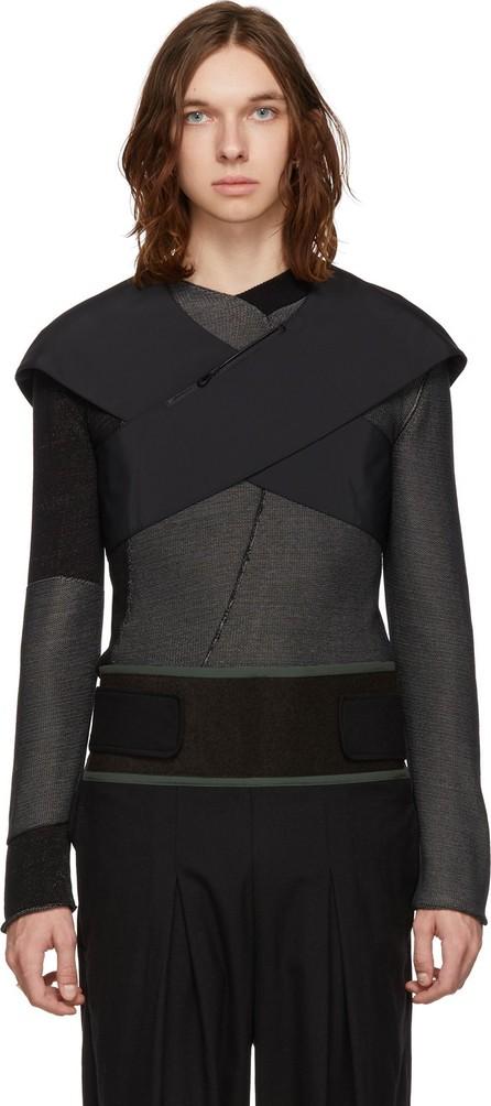 Kiko Kostadinov Black Cross Front Bag Vest