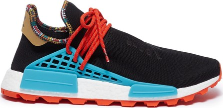 Adidas By Pharrell Williams 'SolarHu NMD' slogan embroidered Primeknit sneakers