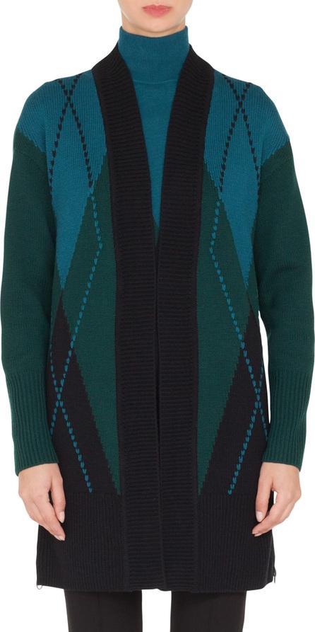 Akris Punto Argyle Wool & Cashmere Cardigan
