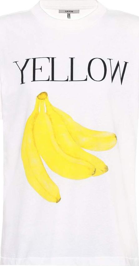Ganni Harway printed cotton T-shirt