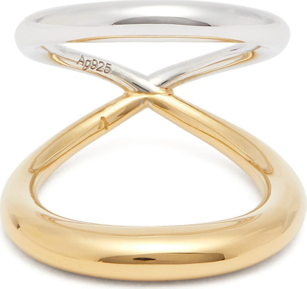 Charlotte Chesnais Surma 18kt gold vermeil and sterling silver ring