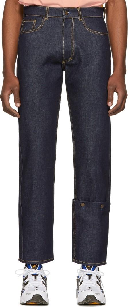 Anton Belinskiy Blue Detachable Cuff Jeans