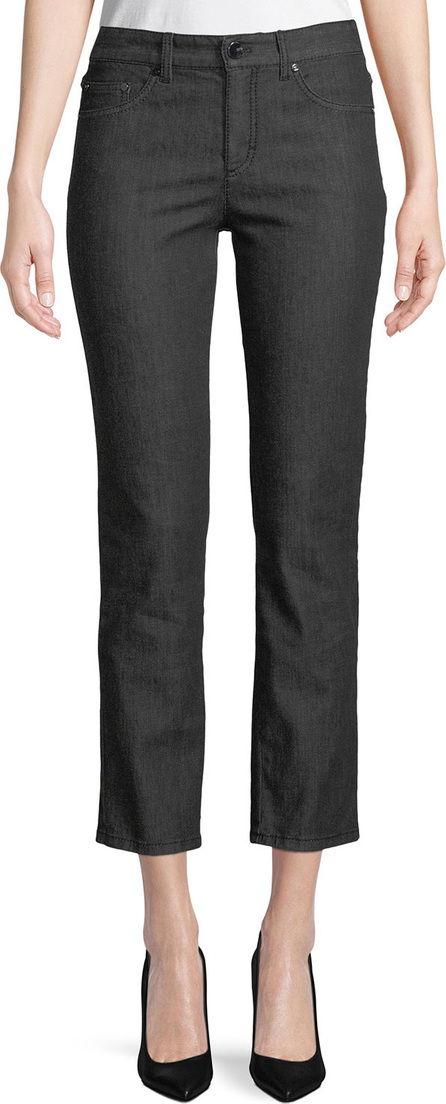 Escada Five-Pocket Straight-Leg Ankle Jeans
