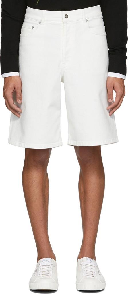 Givenchy White Denim Bermuda Shorts