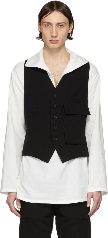 Ann Demeulemeester Black Straps Waistcoat