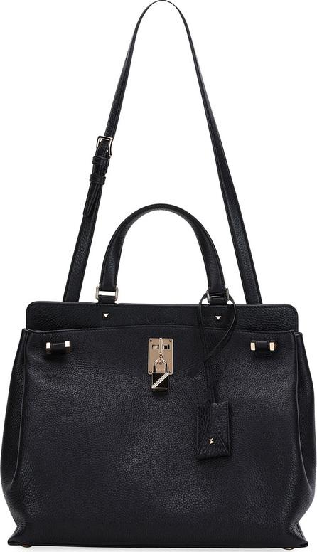 Valentino Joy Lock Medium Leather Satchel Bag