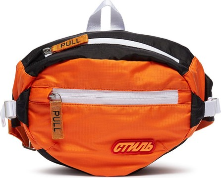 Heron Preston Cyrillic letter patch bum bag