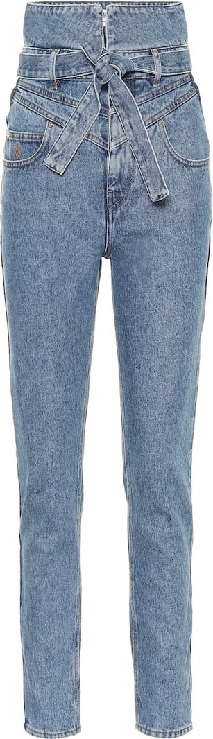 The Attico High-rise straight jeans