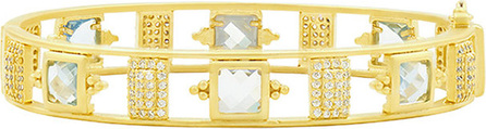 Freida Rothman Ocean Azure Hinged Bangle