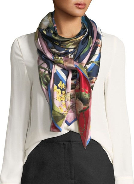 St. Piece Imelda Double-Sided Silk Floral Scarf