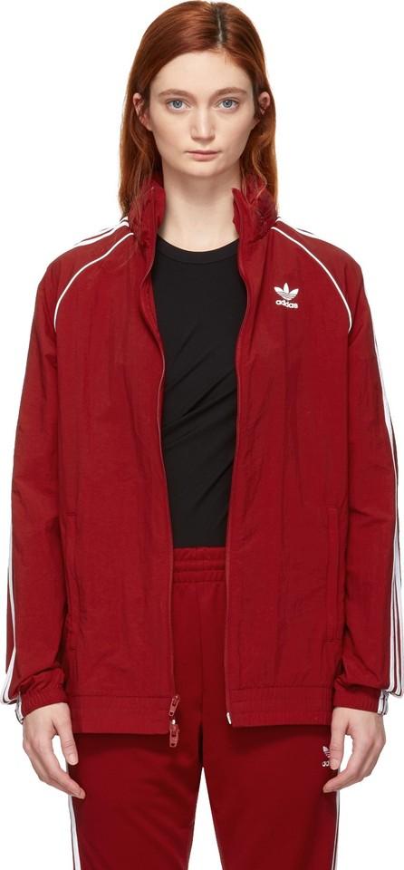 Adidas Originals Red SST Adicolor Windbreaker Track Jacket